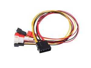 4Pin Molex to 3Pin Fan Power Cable Adapter Connector 12V 7V 5V Cooling Fan Cable