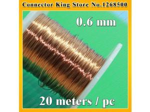 ChengHaoRan 0.6 mm *20m / pc QA-1-130 2UEW Polyurethane enameled Wire Copper Wire enameled Repair cable