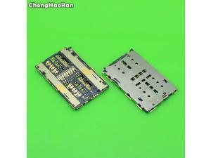 ChengHaoRan 2pcs  SIM Card Socket Holder Tray Slot Repair Parts replacement for Huawei Honor 7 7I PLK-AL10 UL00 CL00 TL01H