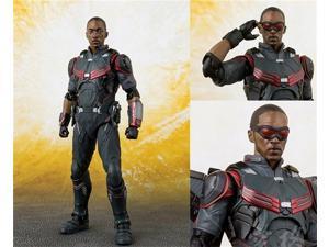 SHF 15cm Marvel Avengers Falcon Super Hero Joint Movability BJD Figure Model Toys
