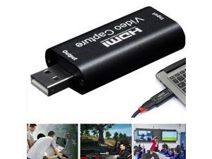 HDMI Video Capture Card, HDMI to USB 1080p Audio Video Capture Card, Full HD Recording, Connect DSLR Camcorder or Action Cam to PC/Mac for High Definition Acquisition, Live Broadcasting
