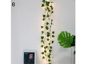 String Light,Maple Wisteria Leaf Rattan LED Copper Fairy String Light Home Decorationative Lamp-3