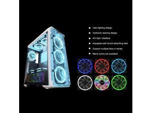 Aofa Mute RGB LED Light Cooling Fan Heat Dissipation Heatsink for Computer PC Case