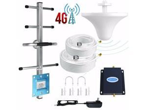 Verizon Cell Phone Signal Booster 4G LTE 700Mhz Band 13 2000sq.ft FDD Straight Talk Mobile Signal Amplifier Kit With Outdoor Directional Yagi Antenna and Indoor Omni Celling Antenna 50ft Coaxial Cable