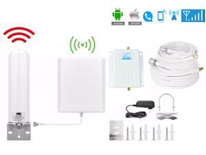 Verizon Cell Phone Signal Booster 4G LTE 700Mhz Band 13 Straight Talk Mobile Signal Amplifier Kit Outdoor Omni-directional Tubular Antenna Indoor Directional Wall Mounted Panel Antenna 50ft Coaxial