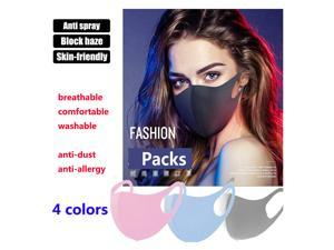 20PCs Anti-Pollution Face Mask Anti-Spray  Reusable Washable Face Shield Unisex Anti-Fog Haze Mouth Cover Anti-dust Breathable Elastic Mask