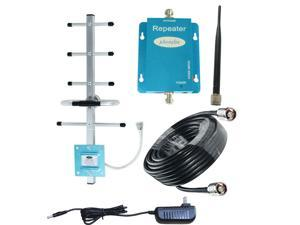 GSM Cell Phone Signal Booster 850Mhz ATT Verizon 2G 3G 4G Band 5 FDD Mobile Signal Amplifier Kits With Outdoor Directional Yagi Antenna and Indoor Omni Directional Whip Antenna 50ft Coaxial Cable