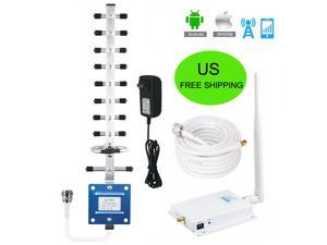 AT&T T-Mobile MetroPCS Cellular One 1900Mhz Cell Phone Signal Booster Band2 GSM 3G 4G LTE U.S. Cellular 65dB Mobile Signal Amplifier Kit with 50ft Coaxial Cable YAMI Outdoor Antenna Whip Indoor