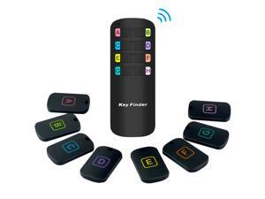 Key Finder, RF Item Locator with 115 ft Working Range, Wireless Wallet Tracker with 1 Transmitter and 8 Receivers for Finding Key, Remote, Pet and Wallet, Batteries Included Item Locator