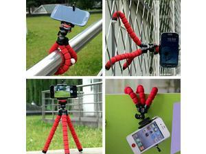 Phone Tripod Compatible with iPhone, Android Phone, Camera, Small and Lightweight Mini Tripod with Flexible Legs Unique 360° Rotating Holder-Red