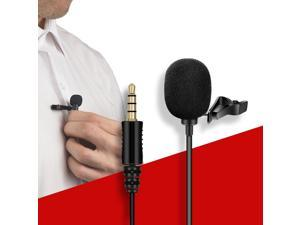 Mini Portable Clip-on Lapel Lavalier Condenser Mic Wired Microphone for Phone