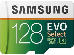 SAMSUNG: EVO Select 128GB MicroSDXC UHS-I U3 100MB/s Full HD & 4K UHD Memory Card with Full size Adapter (MB-ME128HA)