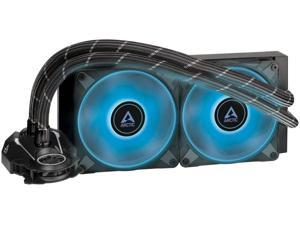 ARCTIC Liquid Freezer II 240 RGB - Multi-Compatible All-in-one CPU AIO Water Cooler with RGB Compatible with Intel & AMD efficient PWM-Controlled Pump Fan Speed: 200-1800 RPM - Black