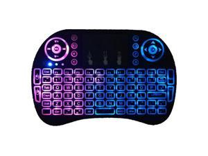 Balight Mini i8 2.4GHz Air Mouse  Bluetooth Keyboard with Touchpad Keyboard,  Backlit Portable Wireless Keyboard for Smartphones laptop/PC/Tablets/Windows/Mac/Projecto Black