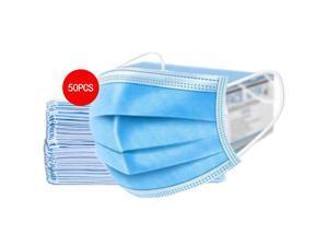 50 Pcs Disposable Face Masks Unisex Blue Dust Mouth Masks Anti Dust Face Surgical Mask Facial Mask