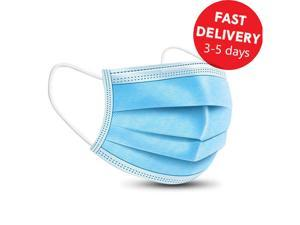 50x Disposable face masks 3 layers Antiviral antibacterial face mask protection Adult child protective nose and mouth masks