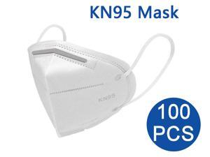100PCS KN95 Mask, 5 layer Anti COVID-19 Virus Anti Pollution Earloop Face Mask for Personal Protective Respirator Reusable, Non-Disposable Face Mask Work Mask