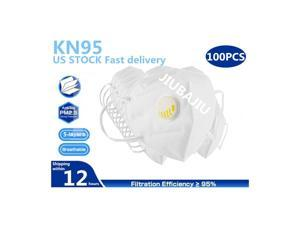 100pcs N95 KN95 Mask with Self-priming Filter - Anti-Fog FFP2 Dust Mask PM2.5 Face Masks - Air Filter Dust Proof Healthy Protective Respirator