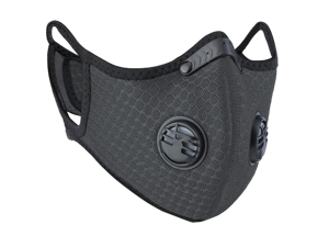 Slate Gray PM2.5 Reusable Face Mask Nylon Mesh for Pollen Allergy Pollution Cycling Outdoor Sports Anti Dust with Activated Carbon Filter - OEM