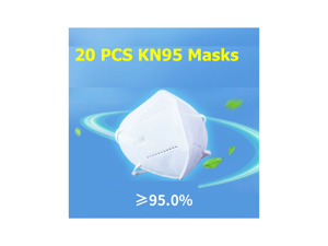 20 pieces KN95 Mask 5-layer Protective Mask Face Mask Breathable, Dustproof, Nonwoven Fabrics ,White