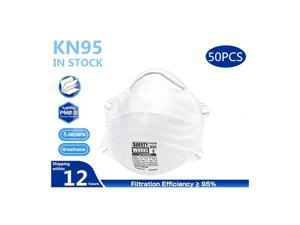 50Pcs Pm2.5 N95 Face Mask Anti-Virus Anti Pollution KN95 Earloop Face Masks for Personal Protective Respirator Reusable