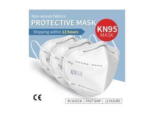 100 Pcs Reusable Mask KN95 Face Mask FFP2 Anti Dust Respirator PM2.5 Filter Protective Valve Anti Pollution FFP2 KN95 N95 Face Mask Filter 95% filtration anti flu masks