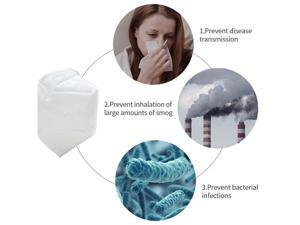 30 Pcs N95 Mask Face Mask Protective Respirator, pm2.5 5-Layer KN95 Mask Adult Anti-fog Haze Dustproof Non-Woven Fabrics Mask For Men And Women