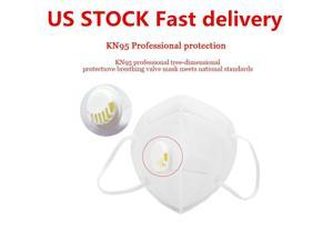 US STOCK 10pcs KN95 Mask with Self-priming Filter AS N95 Mask Anti Covid-19 Virus Anti-Fog FFP2 Dust,Facemask PM2.5 Protective Face Masks Breathing Valve,Respirator