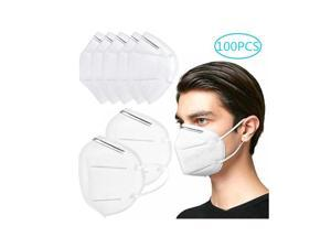 100pcs Pm2.5 N95 Dust Mask Fine Air Filter Odor Smog Cotton Dust Mouth Face Masks KN95