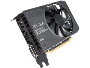EVGA 02G-P4-3753-KR G-SYNC Support GeForce GTX 750 Ti Superclocked 2GB 128-Bit GDDR5 PCI Express 3.0 Video Card Mini card Single fan