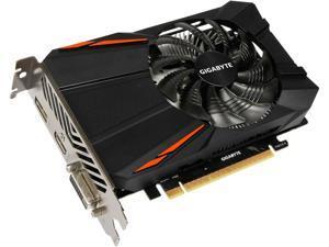 GIGABYTE GeForce GTX 1050 Ti DirectX 12 GV-N105TD5-4GD 4GB 128-Bit GDDR5 PCI Express 3.0 x16 Video Cards MINI  Single fan