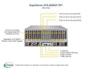 SuperMicro 8GPU(3 0 9 0) 24GB Rack-mounted deep learning server4029GP-TRT v100