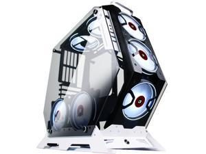 KEDIERS Computer Case ATX Mid Tower PC Gaming Case Open Tower Case - USB3.0 - Remote Control - 2 Tempered Glass - Cooling System - Airflow - Cable Management C-570