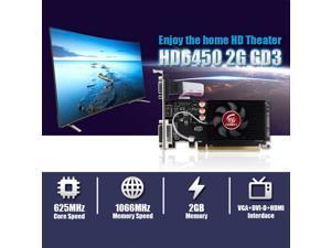 HD6450 2GB DDR3 64Bit Desktop Computer Office Discrete Graphics