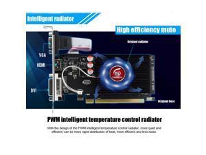GPU Graphic Card, HD6450 2GB DDR3 64Bit Desktop Computer Office Discrete Graphics