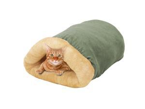 GOOPAWS 4 in 1 Self Warming Burrow Covered Cat & Dog Bed, Pet Hideway Sleeping Cuddle Cave