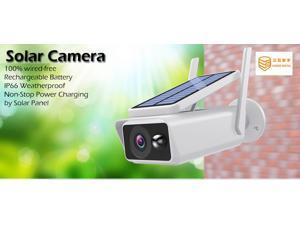SUNSEE DIGITAL Solar Wireless IP Camera 1080P WiFi Waterproof Security Bullet Camera IR Night Vision Surveillance CCTV Outdoor Webcam