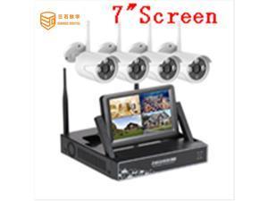 "SUNSEE DIGITAL 4CH 1080P 7""LCD Screen Monitor CCTV Camera Wireless NVR Kit Security Surveillance System IP Camera Set DIY Home cctv"
