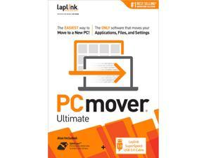 Laplink PCmover Ultimate 11 | Moves your Applications, Files and Settings from an Old PC to a New PC | Includes SuperSpeed USB 3.0 Cable | 1 Use