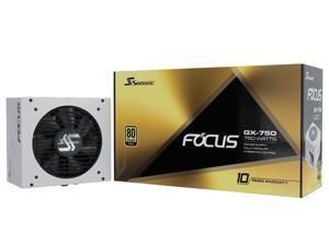 Seasonic FOCUS GX-750 White, 750W 80+ Gold, Full-Modular, Fan Control in Fanless, Silent, and Cooling Mode, 10 Year Warranty, Perfect Power Supply for Gaming and Various Application