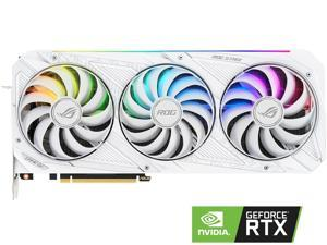 ASUS ROG Strix GeForce RTX 3070 8GB GDDR6 PCI Express 4.0 Video Card ROG-STRIX-RTX3070-O8G-WHITE-V2