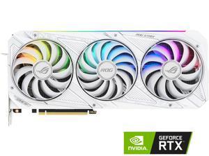 ASUS ROG Strix GeForce RTX 3090 24GB GDDR6X PCI Express 4.0 SLI Support Video Card ROG-STRIX-RTX3090-O24G-WHITE