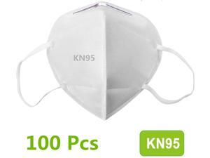 100Pcs N95 Mask Face Mask Protective Respirator, pm2.5 5-Layer KN95 Mask Adult Anti-fog Haze Dustproof Non-Woven Fabrics Mask