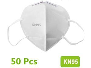 50Pcs N95 Mask Face Mask Protective Respirator, pm2.5 5-Layer KN95 Mask Adult Anti-fog Haze Dustproof Non-Woven Fabrics Mask