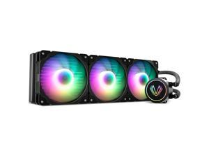 Vetroo V360 Black 360mm Radiator Addressable RGB All-in-one AIO CPU Liquid Water Cooler for Intel 1150/1151/1156 and AMD AM2/AMD3/AM4, 3X 120mm ARGB PWM Fans