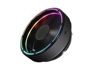 Vetroo darkStorm M2 CPU Air Cooler Black Aluminum Fixed RGB LED Ring Hydraulic Bearing Intel/AMD Universal Socket