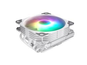 Vetroo L5 White Low Profile CPU Air Cooler for Intel/AMD w/ 5 Heatpipes and 120mm Quiet PWM Fan