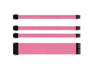 Vetroo Pink Customization Mod Sleeve Extension Power Supply Cable Kit ATX/EPS/8 Pin PCI-E/6+2 Pin PCI-E