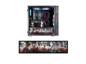 """Vetroo Streetfighter Character Poster Display Board w/ LED Lights for Computer PC Case Decor Full HD 2K Multi-Mode Function 12.2"""" x 3.1"""" (Horizontal, B6)"""