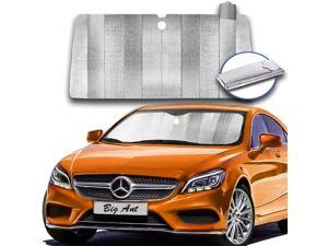 Big Ant Sun Shade, Windshield Sun Shade Folded Auto Front Window Sunshades Keep Vehicle Cool Protect Your Car from Sun Heat & Glare Best UV Ray Visor Protector(Sliver Size: 59 X 31 inch)